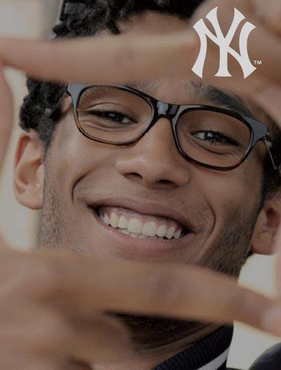 New York Yankes, okulary, oprawki