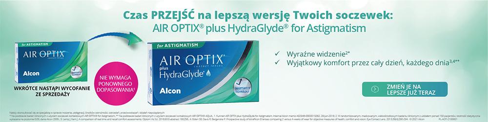 AIR OPTIX® plus HydraGlyde® for Astigmatism 6 szt.