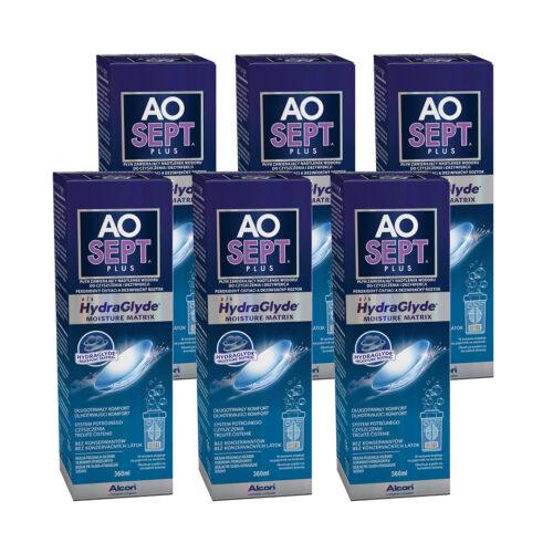 Zestaw: AOSEPT® PLUS z HydraGlyde® 6×360 ml