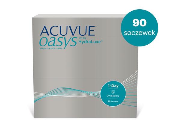 ACUVUE® OASYS 1-Day to jednodniowa soczewka kontaktowa, która nadąża za aktywnym i wymagającym stylem życia, który prowadzisz