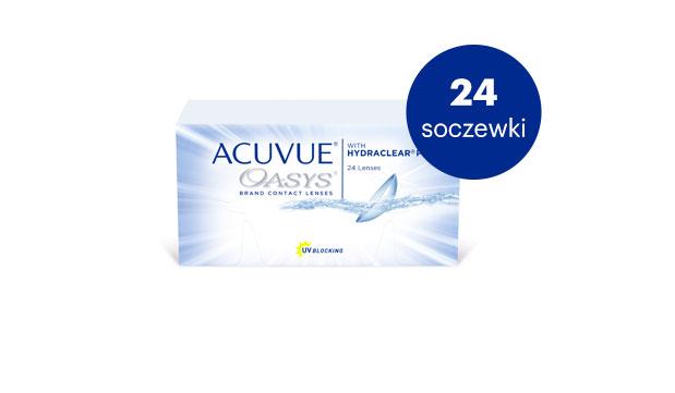 ACUVUE® OASYS to dwutygodniowa soczewka, niepokonana w zapewnianiu komfortu3, dostosowana do wymagających warunków otoczenia.