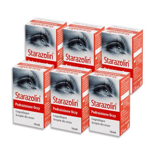 Zestaw: Starazolin Krople łagodzące (podrażnione oczy) 6×10 ml