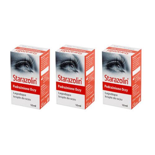 Zestaw: Starazolin Krople łagodzące (podrażnione oczy) 3×10 ml