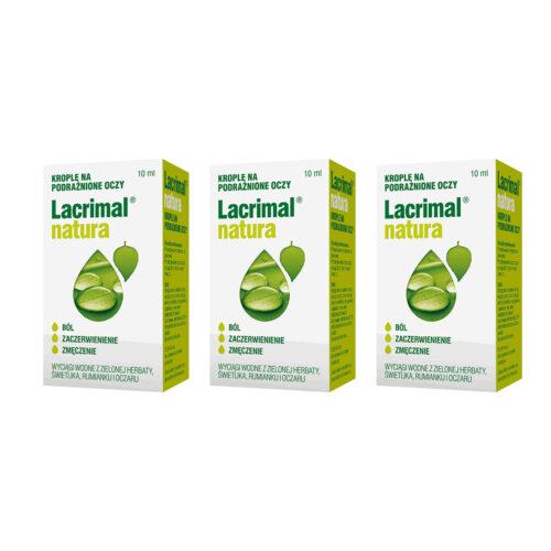 Zestaw: Lacrimal Natura krople do oczu 3x10 ml