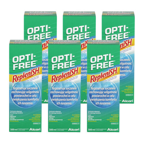 Zestaw: Opti-Free Replenish 6×120 ml