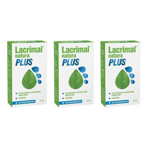 Zestaw: Lacrimal Natura Plus krople do oczu 3x10 ml