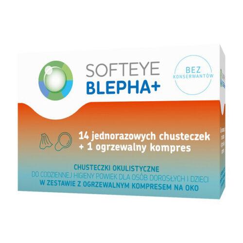 Softeye Blepha Plus chusteczki okulistyczne 14 szt. + ogrzewalny kompres