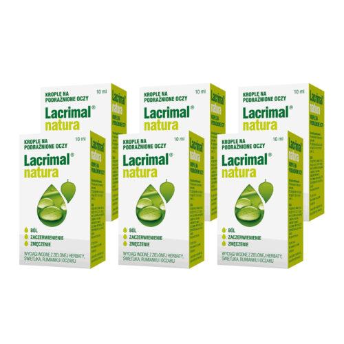 Zestaw: Lacrimal Natura krople do oczu 6x10 ml