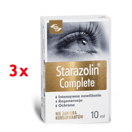 Zestaw: Starazolin Complete krople do oczu 3x10 ml