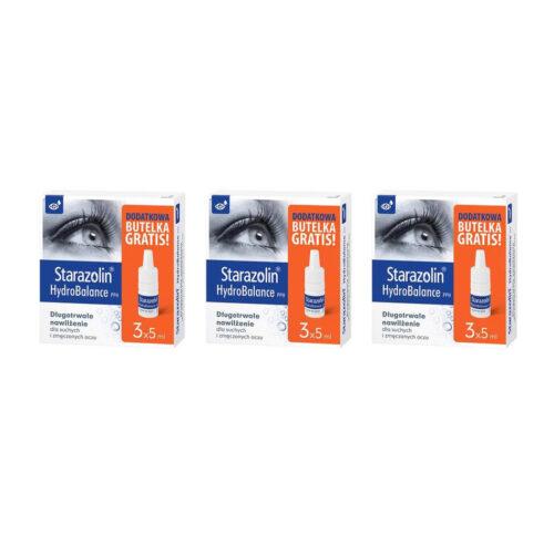 Zestaw: Starazolin HydroBalance PPH krople do oczu 9 x 5 ml