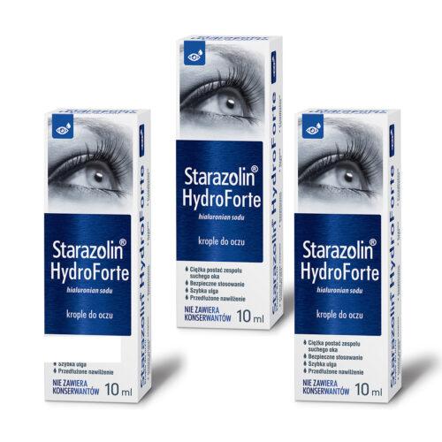 Zestaw: Starazolin HydroForte krople do oczu 3x10 ml