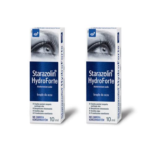 Zestaw: Starazolin HydroForte krople do oczu 2×10 ml