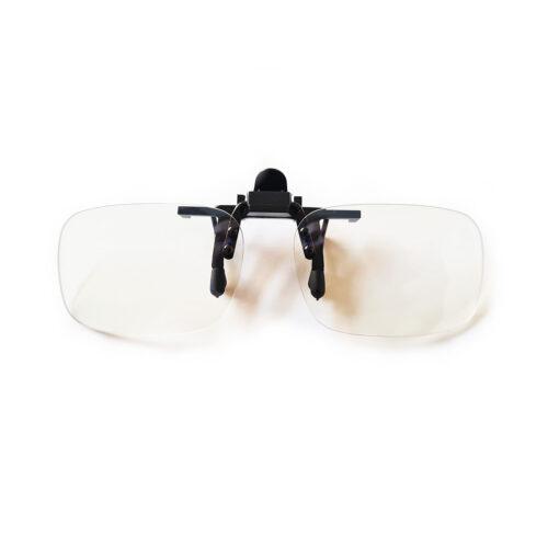 Nakładki na okulary z filtrem światła niebieskiego z etui