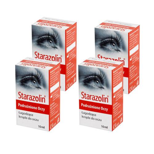 Zestaw: Starazolin Krople łagodzące (podrażnione oczy) 4x10 ml
