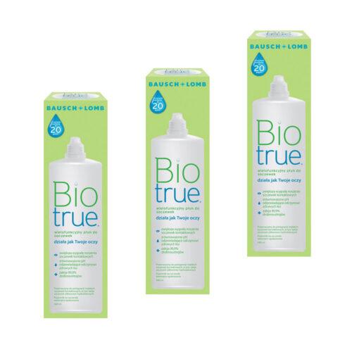 Zestaw: Biotrue 3×480 ml