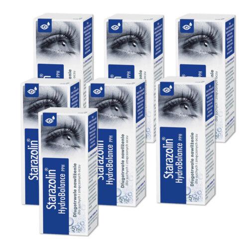 Zestaw: Starazolin HydroBalance PPH krople do oczu 7x5 ml