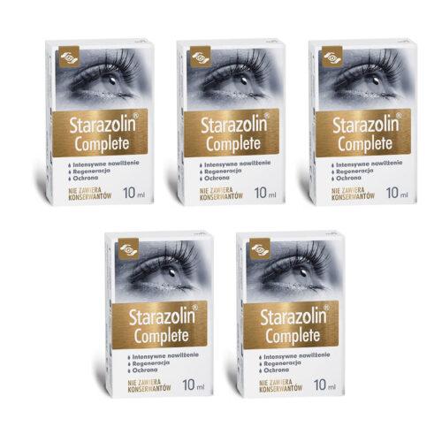 Zestaw: Starazolin Complete krople do oczu 5x10 ml