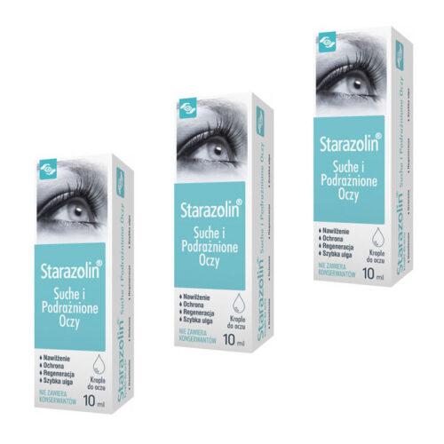 Zestaw: Starazolin Suche i Podrażnione Oczy 3 x 10 ml