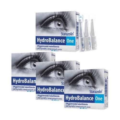 Zestaw: Starazolin HydroBalance One krople do oczu 4x12 minims