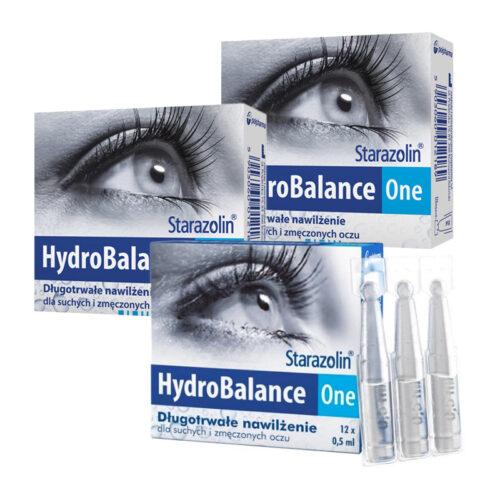 Zestaw: Starazolin HydroBalance One krople do oczu 3x12 minims